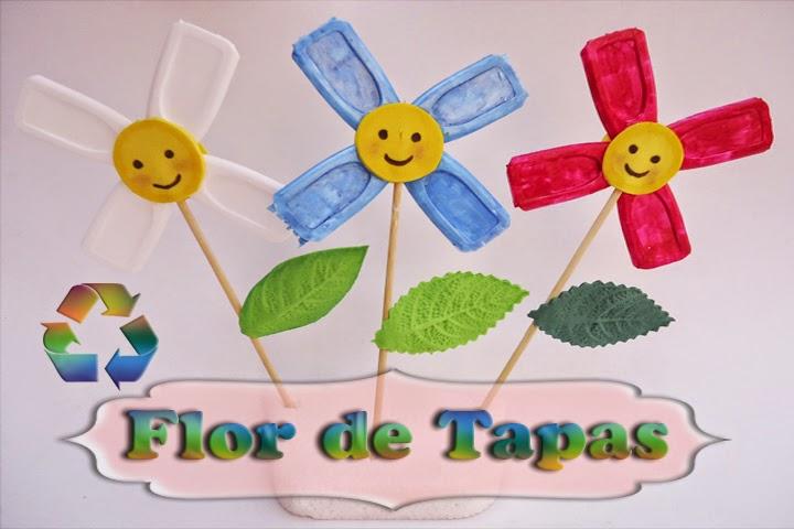 Flor Con Tapas De Cajas De Tetrapack Manualidades Para Ninos