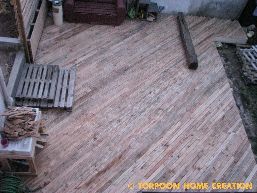 Comment faire une terrasse en palette free with comment for Tuto terrasse bois