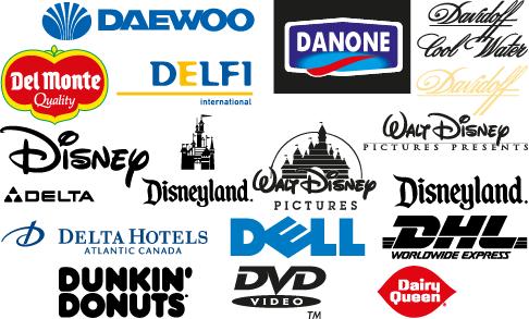 """Logos y marcas comerciales con la letra """"D"""" - vector"""