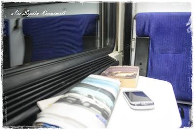 4 Eylül Mavi Treni'nin içi