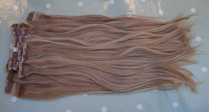 HeadKandy Dirty Looks Hair Extensions Review Manhattan Highlights 16-18 inches