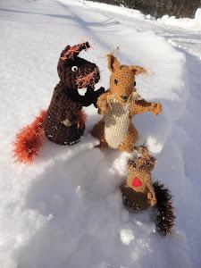 Eichhörnchen Familie