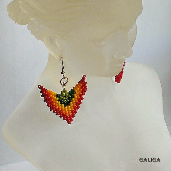 Little Seed Bead Earrings-Colorful Beaded Jewelry