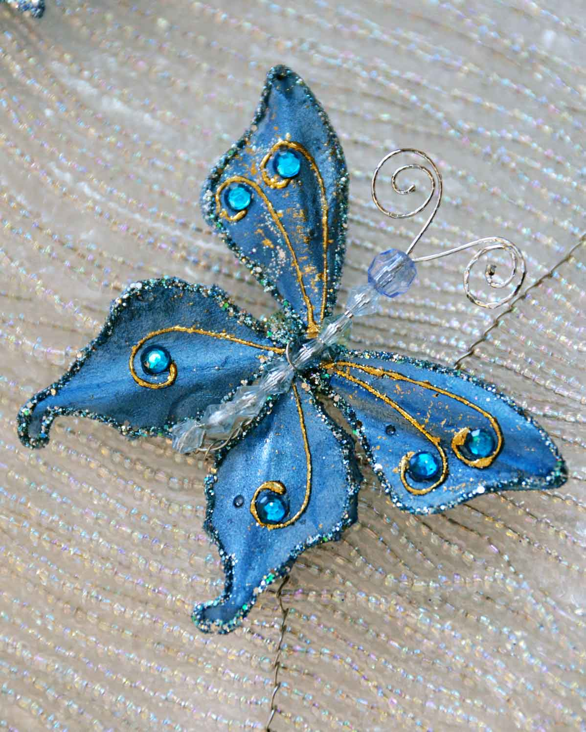 Beaded butterfly at the Bead and Button Show