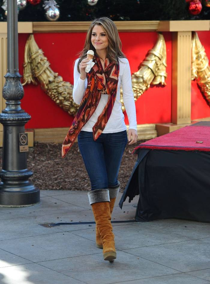 Maria Menounos Outdoor Photoshoot