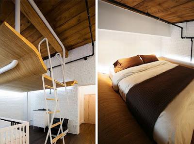 desain kamar tidur ruangan sempit