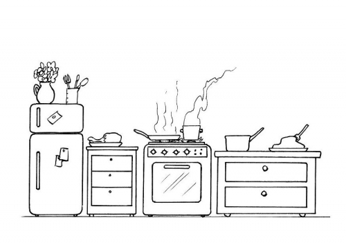 kitchen coloring pages - photo#11
