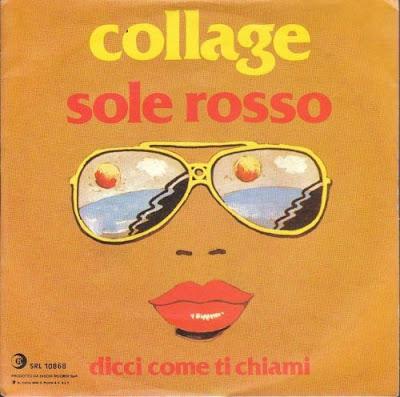 Anni 70 - I Collage - Sole rosso