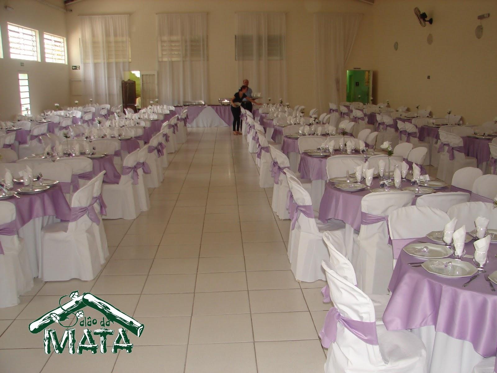 MATA  Espaço para Festas e Eventos Casamento com decoração lilás