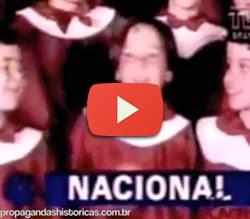 Propaganda do Banco Nacional em 1985 com famosa canção natalina.