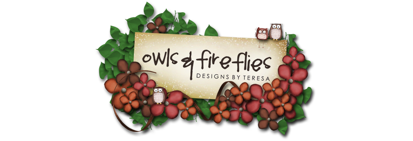 Owls and Fireflies Design (by Teresa)