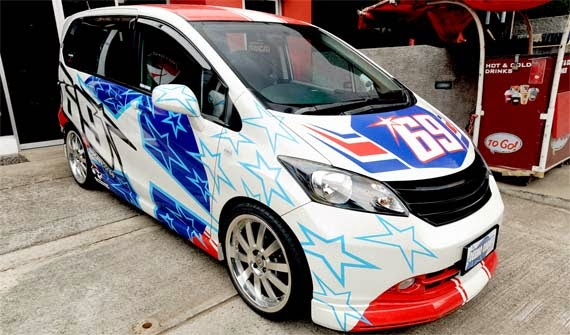 modifikasi honda freed putih