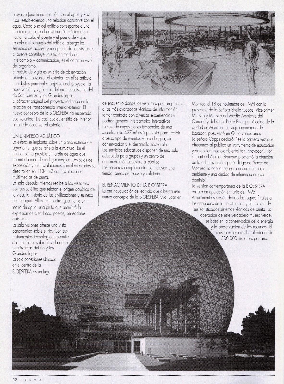Mario Vásconez: Canadá 2: La Biosfera de Montreal, nueva vida para ...