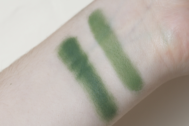 concrete minerals pro matte eyeshadow eye shadow loose powder swatch swatches thrash moss green forest
