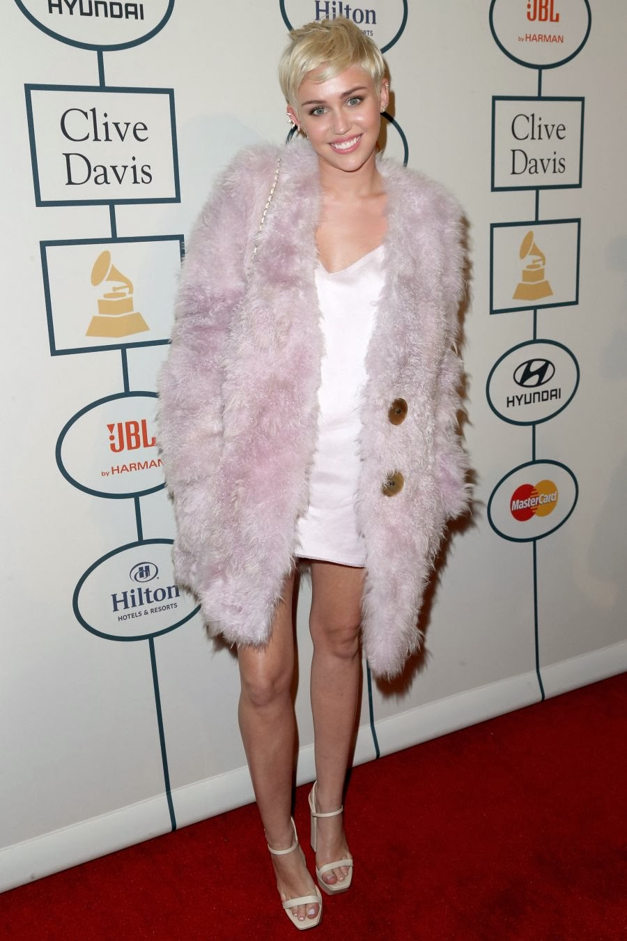 Spicy Miley Cyrus Photos at The 56th Annual GRAMMY Awards Pre-GRAMMY Gala