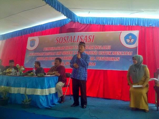 Komite Sekolah SMPN 1 Kayuagung Gelar Sosialisasi