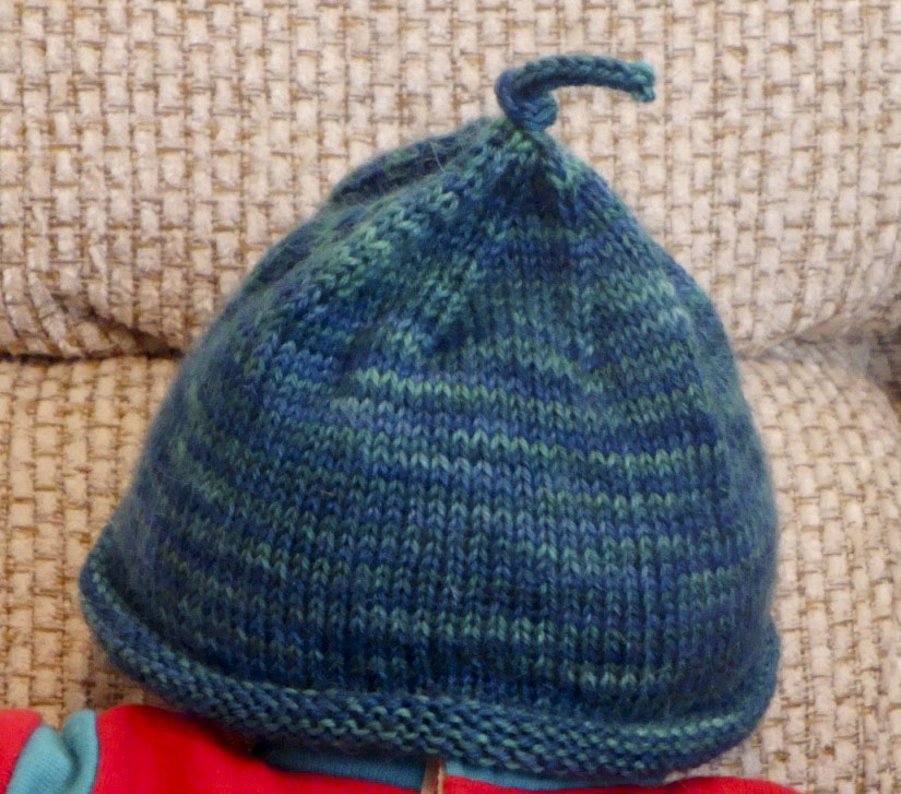 What Karen Knits: Second Easy Peasy Newborn Sock Hat