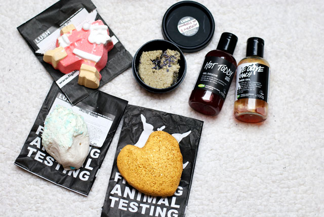 lush christmas products haul 2014