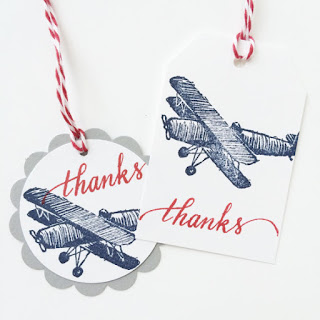 Airplane Party Thanks Gift Tags