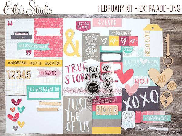 Elle's Studio Design Team : February Kit + Add Ons