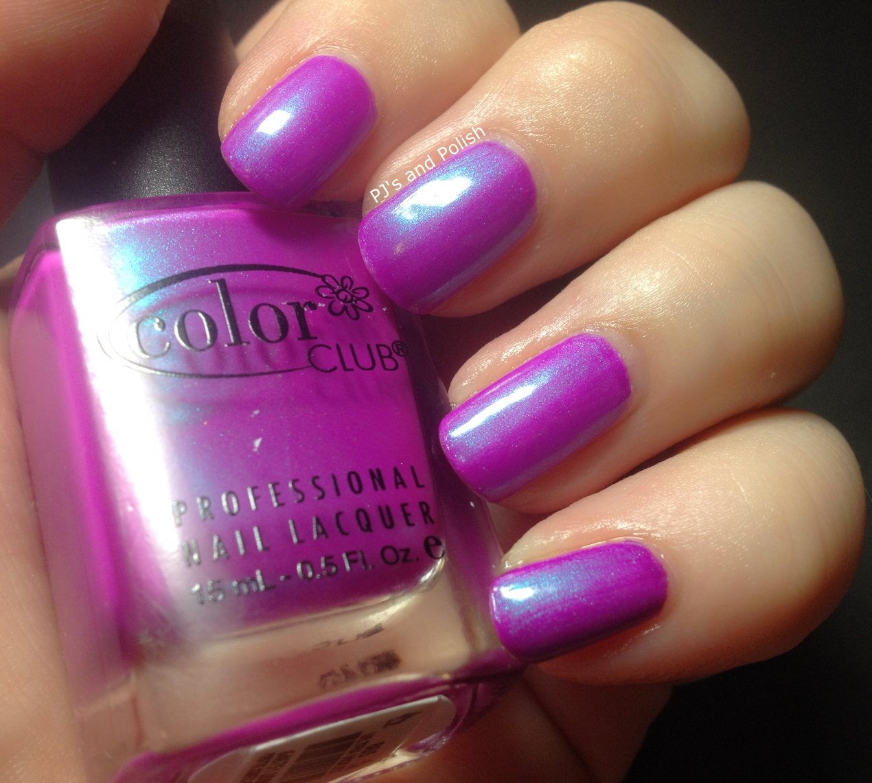 Swatch and Review Color Club Ultra Violet Sally Hansen White On HK Girl