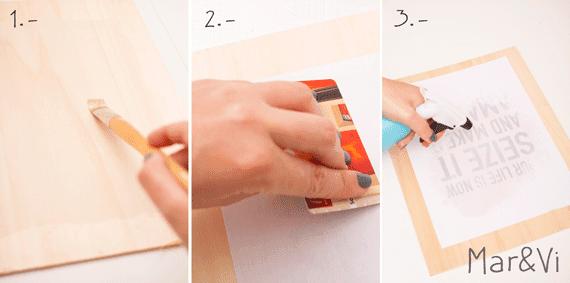 cuadro tipográfico en madera paso a paso