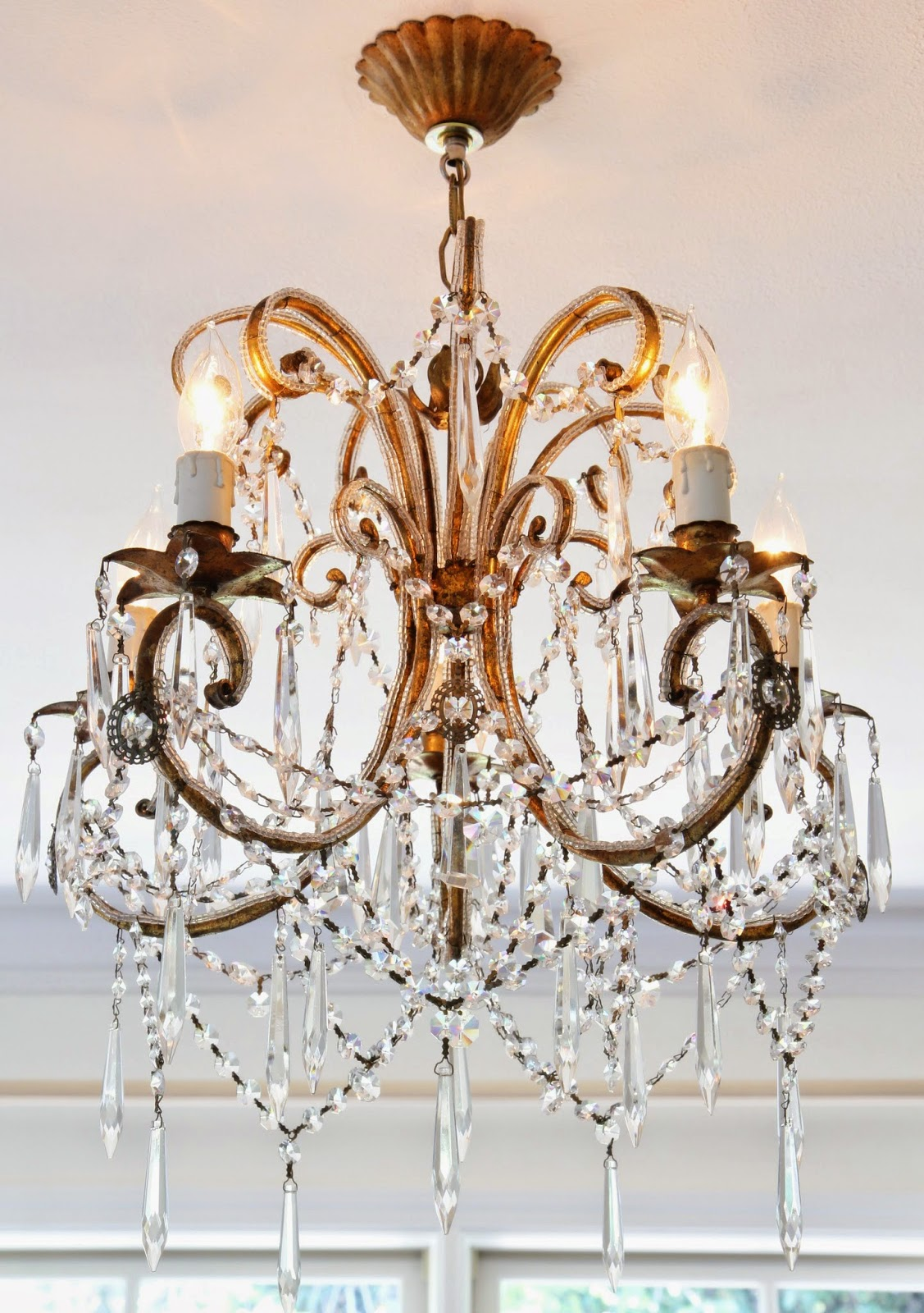 Crystal Lighting: Chandelier for the Master Bedroom; Nora's Nest