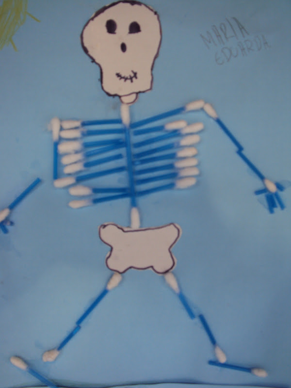 Esqueleto humano com cotonetes blog da verinha for Como criar peces para consumo humano