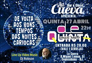 QUINTA-FEIRA - 27/04 - 22h