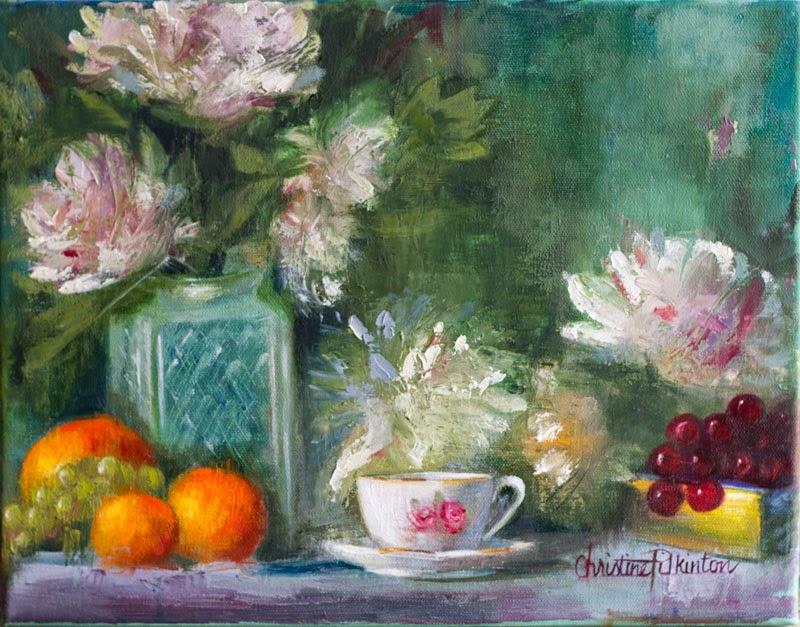 Peonies & Tea