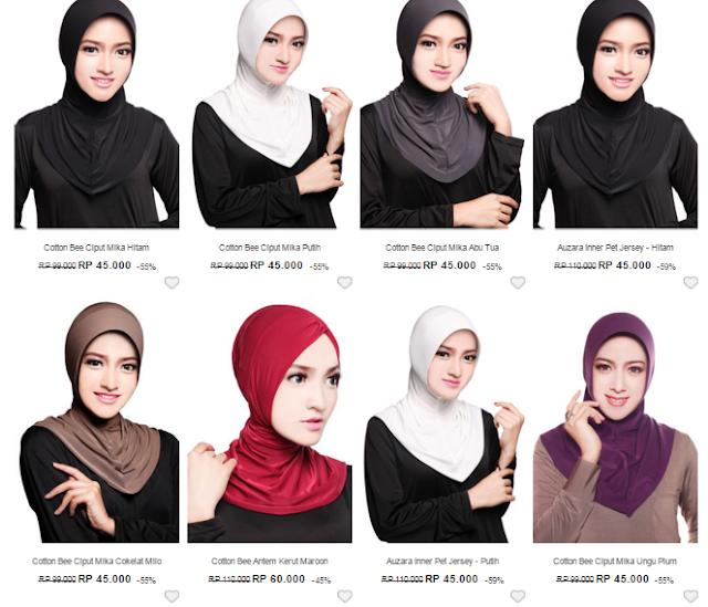 Hijab; jilbab; harga murah; trendy; modern