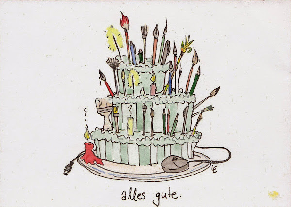 an artist's birthday cake