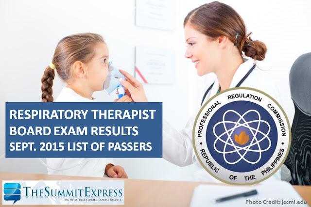 September 2015 Respiratory Therapist board exam