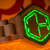 Sneaky Tokyoflash wood watch tells time with hidden LEDs