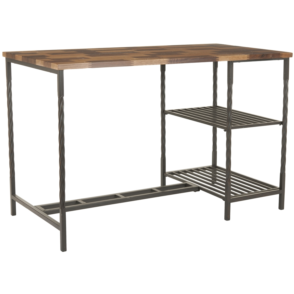 OVERSTOCK SAFAVIEH VIENNE BROWN DESK