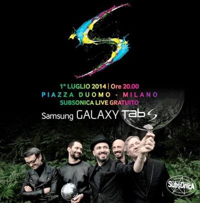 Concerto Subsonica Milano Piazza Duomo 2014