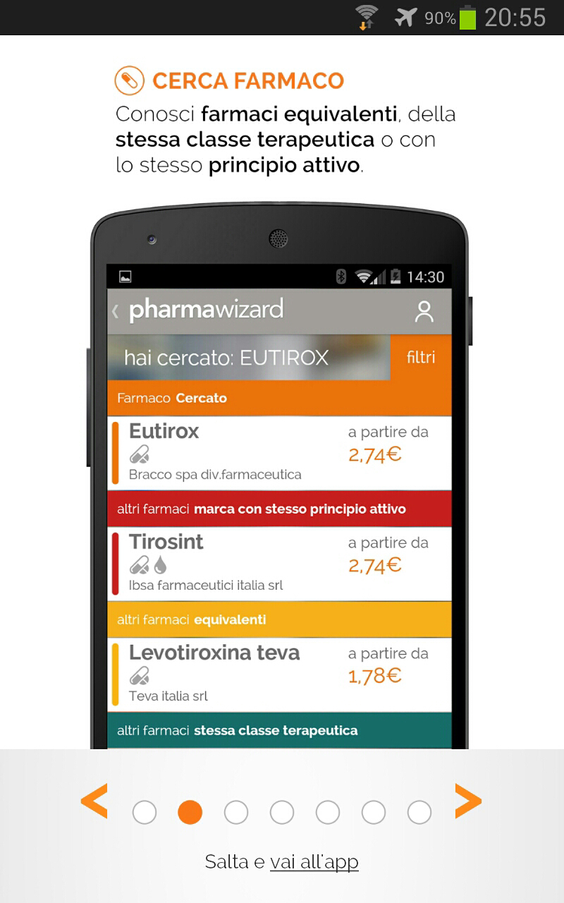 seconda schermata del tutorial di pharmawizard