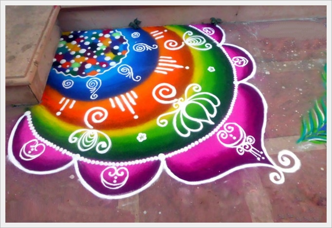 great rangoli design at door corner with simple and easy rangoli designs for home  sc 1 st  gvsigmini.org & Simple And Easy Rangoli Designs For Home. In This Blog We See About ...
