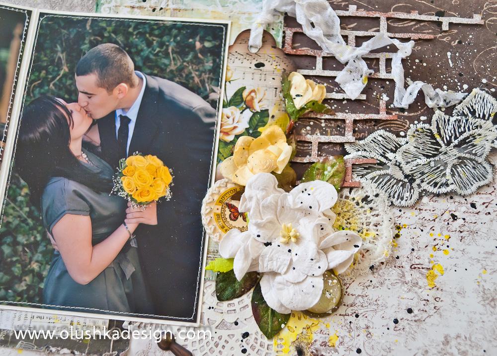אלבום חתונה מעוצב בסגנון ווינטאג'