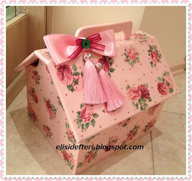 peçete dekupajlı ahşap boyama kutu