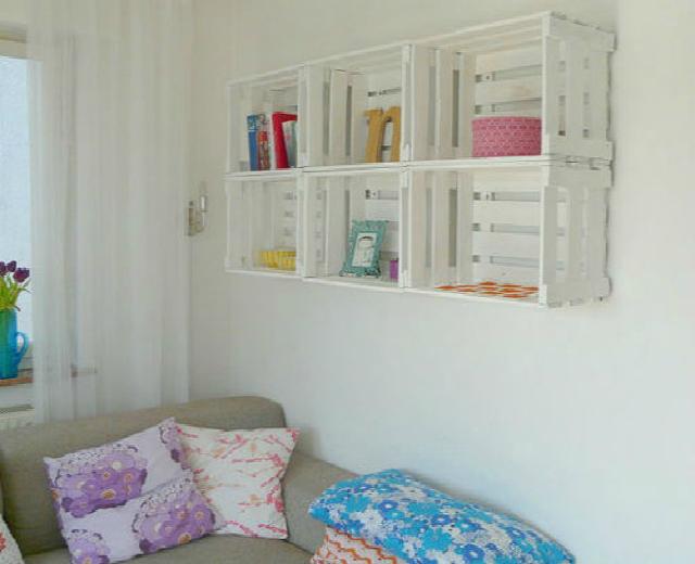 Decoração de quarto com caixotes