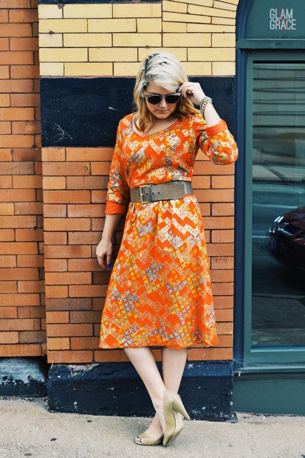 vintage 1960's midi dress - Adele Simpson