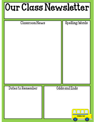 One Teachers Adventures Freebie Editable Classroom Newsletter - August newsletter template