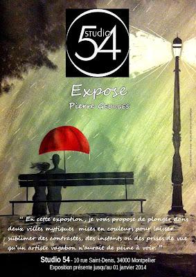 Affiche de l'exposition signée Pierre Georges au Studio 54.