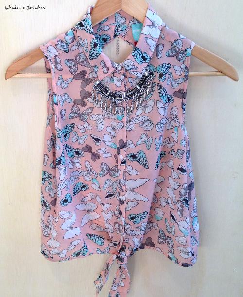 Blusa de Borboletas Marisa