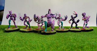 Slaanesh, Daemonette, demonette, fiend, unreleased, oop, Games, Workshop, blood, bowl, team, painted, base, Oldhammer