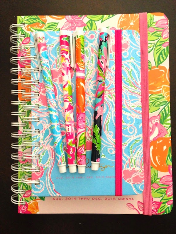 2014 2015 Lilly Pulitzer planner agenda diary school year