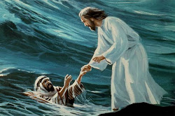 Christ saving Peter