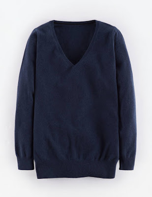 Boden Cashmere Relaxed V Neck Jumper