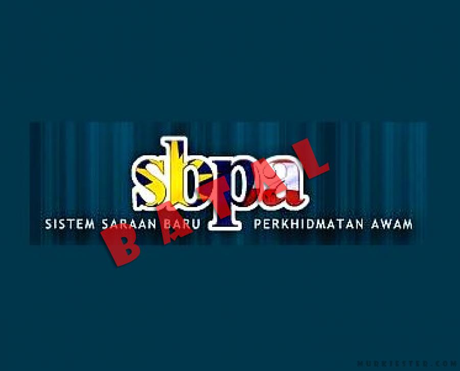 SBPA dibatalkan dan SSM akan di pertambah baikan.